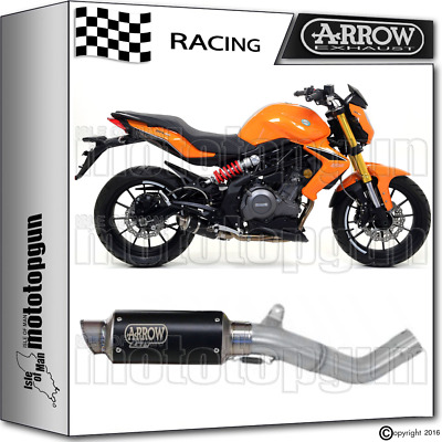 Arrow Kit Muffler Gp-2 Stainless Steel Dark Race Benelli Bn 302 2014 14 2015 15