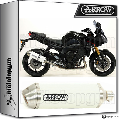 Arrow Exhaust Race-Tech Aluminium White Hom Yamaha Fz8 Fazer 2012 12 2013 13