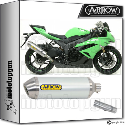 Arrow Kit Muffler Race-Tech Aluminium Hom Kawasaki Zx-6R 2012 12 2013 13 2014 14