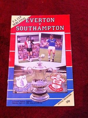 Everton v Southampton 1983-84 F.A.Cup Semi final at Highbury