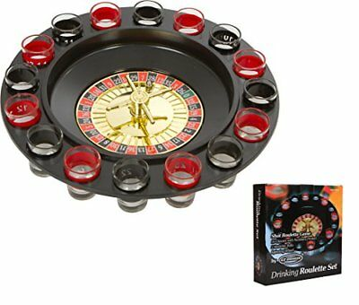 Shot Glasses Spinning Roulette Drinking Game Set 16-Piece Fun Home Parties