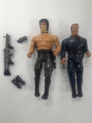 Vintage 80s Rambo Figures & Weapons Lot
