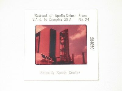 Dia, Kennedy Space Center, Roll-out of Apollo-Saturn, Fotografie, US-Original