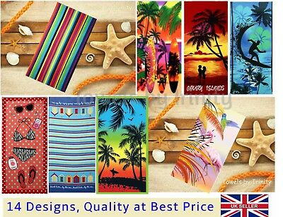 Plush Microfiber Large Beach Towel Sheet Camping Travel Sauna Holiday 75*150cm