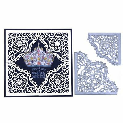 2pcs Decor Scrapbooking Card Making Embossing Lace Frame Cutting Dies Stencil