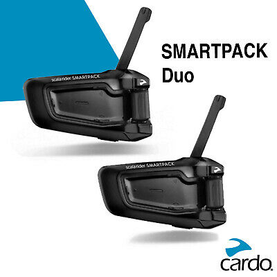 Cardo Scala Rider SmartPack Duo Motorcycle Helmet Bluetooth Intercom Headset