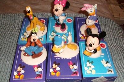 ROYAL DOULTON DISNEY MICKEY MOUSE COLLECTION 70th ANNIVERSARY GOLD STAMP SET NEW