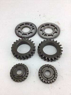 Lot Of 6 Industrial Machine Steampunk Pulley Gear Cog Lamp Base Other Art