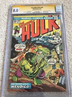 Incredible Hulk #180 SS CGC 8.0 ow/w.  1st Wolverine in Cameo.  Romita sig.