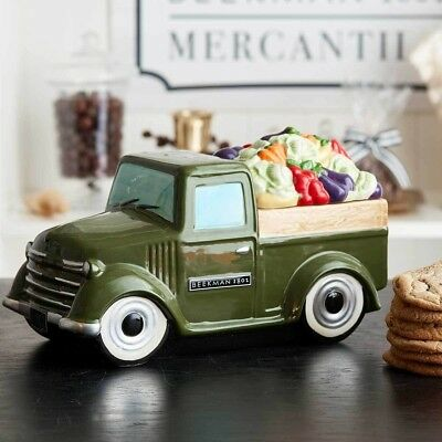 Beekman 1802 Limited Edition Hand Painted Cookie Jar Truck Christmas