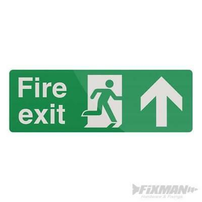 Fire Exit Arrow Sign 400 x 150mm Rigid Arrow UP Signage Safety Signs 792551