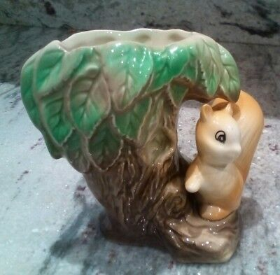 Vintage Eastgate Pottery Fauna Tree and Squirrel Number 26