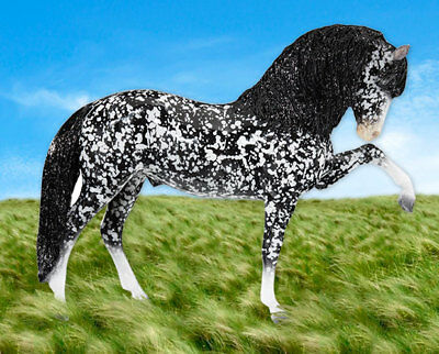 Breyer 2018 Collectors Club - Ulysses -Glossy Dapple Black Andalusian Stallion