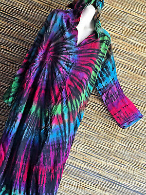 Lot of 5 good quality rayon hooded maxi dress.New design.Wholesale.Hippie boho/