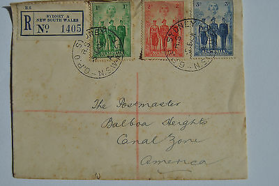 Sydney New South Wales 1940  Registered Cover To Canal Zone