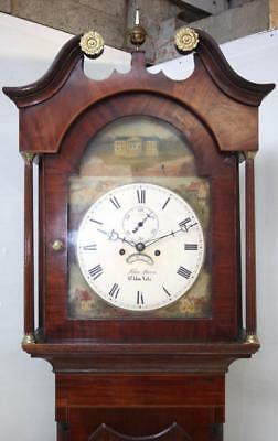 Impressive Antique Welsh Longcase Clock Flame  Mahogany 8 Day Grandfather Clock