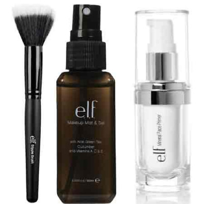 elf Studio Mineral Infused Face Primer With Makeup Mist and Set, Clear, 2.02 ...