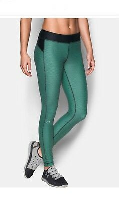 UNDER ARMOUR Women's UA Heat Gear Armour Printed Compression Leggings NWT Large