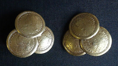 "Beautiful and Unusual Vintage Pair of ""French Gold Coin"" Clip-on Earrings"