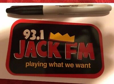 93.1 Jack Fm Radio Station sticker