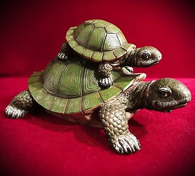 Mother and Baby Tortoise Statue Figurine Sculpture- Turtle Home Decor SHIPS FREE