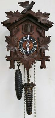 Beautiful Antique Hand Carved Black Forrest Cuckoo Wall Clock All Original