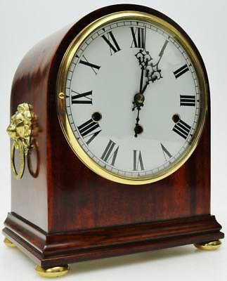 Superb Antique 8 Day Flamed Mahogany Westminster chimes Mantel Bracket Clock