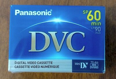 Panasonic Mini-DV Tape - 60 minutes - NEW - AY-DVM60EJ