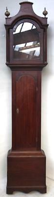 Impressive Antique Longcase Clock Mahogany 8 Day Grandfather Clock Case Only