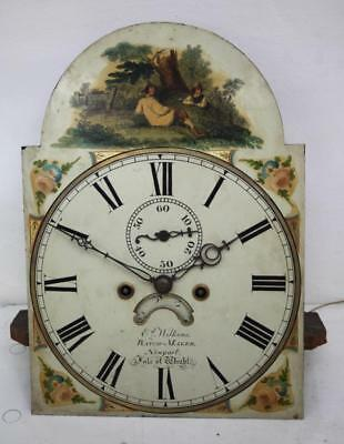 A Good Antique Welsh Longcase Clock 8 Day Grandfather Clock Movement And Dial