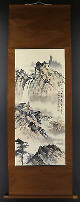 CHINESE HANGING SCROLL ART Painting Sansui Landscape  #E9333