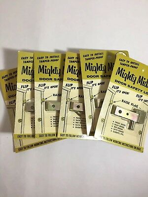 Lot Of 6 Vintage Might Midget Door Lock Latches