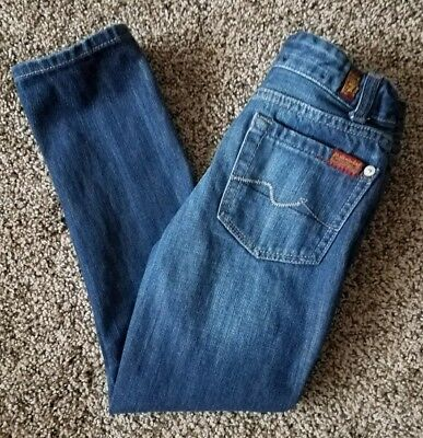 7 for all mankind Kids Slimmy Size 6 Jeans 100% Cotton  Straight Legged