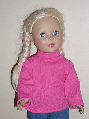"Pink Turtleneck for 18"" Doll Clothes American Girl"