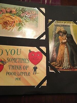 Antique Postcard Album Turn Of The Century With Family Photos