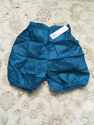 New Body Wrappers Trash Bag Warm up Shorts Teal