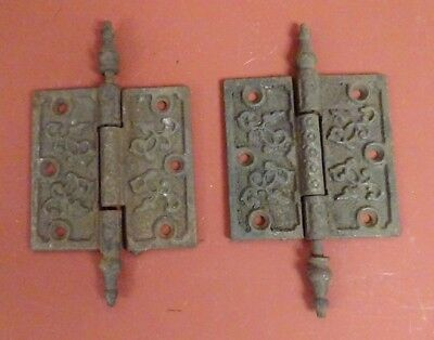 Pair Of Cast Iron Antique Door Hinges