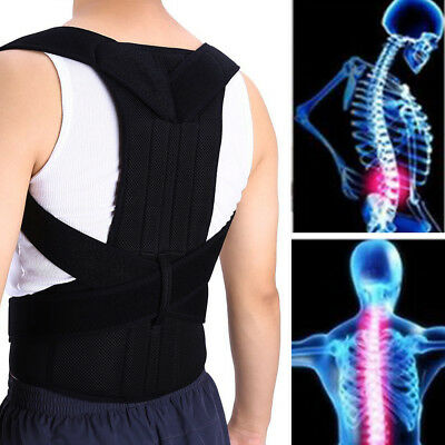 Comfort Posture Corrector Back Support Lumbar Brace Physical Therapy Relief Pain