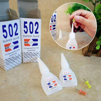1×White Cyanoacrylate Instant Adhesive Strong Adhesion Fast Repair 502Super Glue