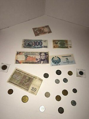 Foreign Currency Lot Including both coins and paper currency around the world