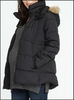 New Old Navy Maternity Black Frost Free Jacket L