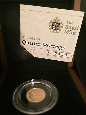 The 2012 Quarter Sovereign Brilliant Uncirculated Gold