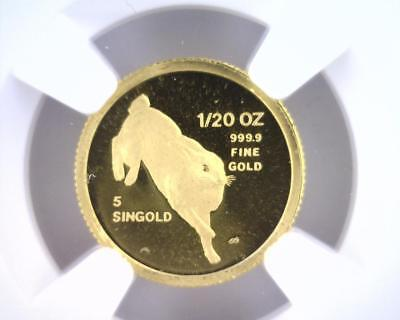 1987 SM Singapore Gold 5 Singold | NGC MS69 | 1/20 oz AU .999 (RC4689)