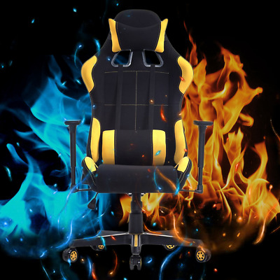 Gaming Chair High Back Ergonomic Racing Leather Computer Footrest Office Seat BT