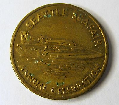 1960's SEATTLE SEAFAIR 25 Cent Diamond Parking token U-75 Hydroplane Boat racing