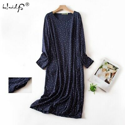 Casual Nights Women's Cotton Long Sleeve Cartoon Floral Nightgown Sleep Shirt