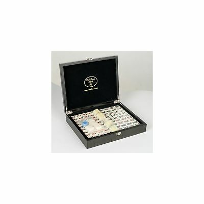 SAVE ON Dal Rossi Mahjong Set in Carbon Fibre Finish Case NKT