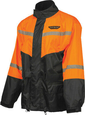 Fly Racing #6016 478-8016~4 2-Piece Rain Suit Orange/Black LRG
