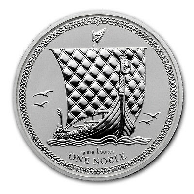 2017 Isle of Man 1 oz Silver Noble Reverse Proof