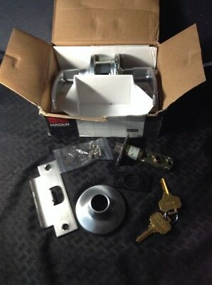 "New Hager 3653 2-3/4"" Passage Lever Door Handle Lock With Keys Grade 2 New Box"